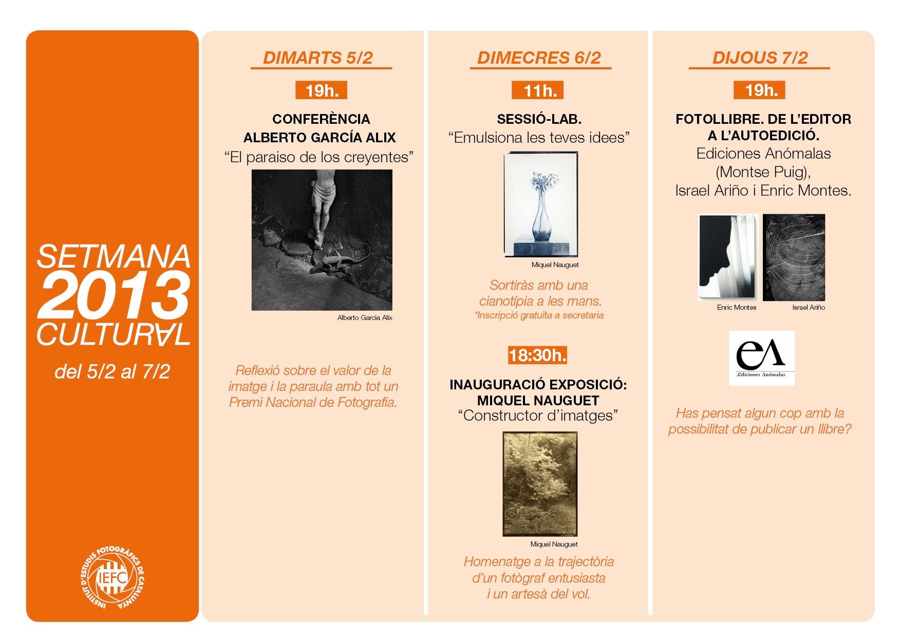 Calendar setmana cultural 2013