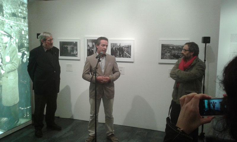Miquel Galmes, Daniel Venteo i Pep Parer durant la presentació a la Sala Ciutat. Foto: Eduard Bertran