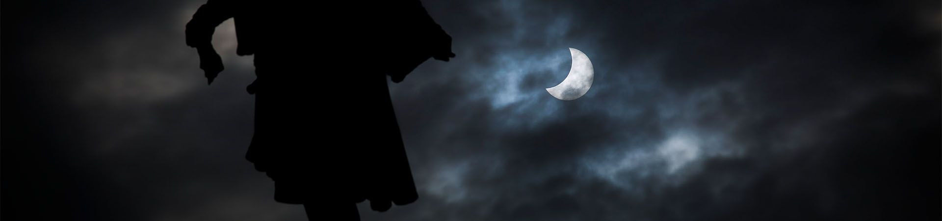 La estátua de Colón (Barcelona) señala el eclipse solar del 20 de marzo de 2015. Foto: Pere Virgili