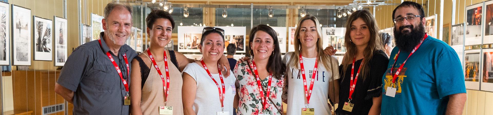 Participantes del Campus Internacional de Escuelas de Fotografía del Festival Visa pour l'Image 2018