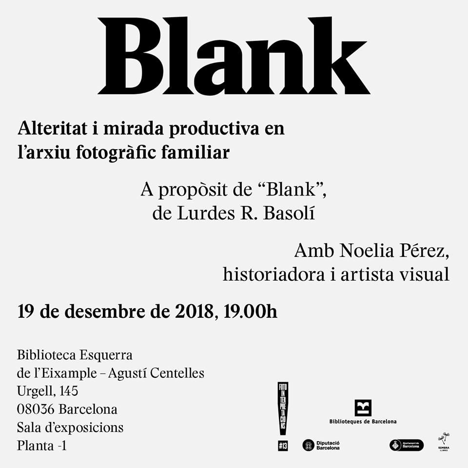 Conferència de Noelia Pérez: Alteritat i mirada productiva en l'arxiu fotogràfic familiar