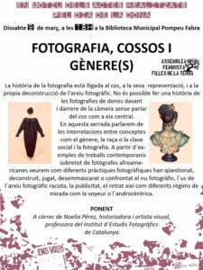 Noelia Pérez ofereix la xerrada Fotografia, cossos i gènere(s) a Torrelles de Llobregat
