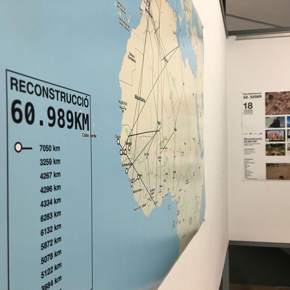 Reconstrucció. 60.989 km. Exposició a l'IEFC