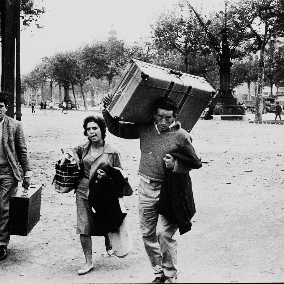 Estació de França, Barcelona, 1962. Foto: Xavier Miserachs